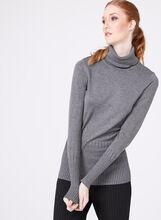Long Sleeve Turtleneck Sweater, Grey, hi-res