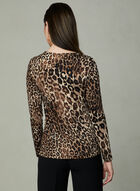 Leopard Print Top, Brown, hi-res
