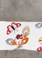 Butterfly Embroidered Pashmina Wrap, Black, hi-res