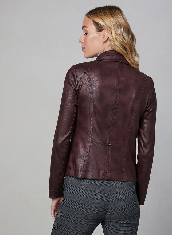 Vex - Blazer ouvert en faux cuir, Violet