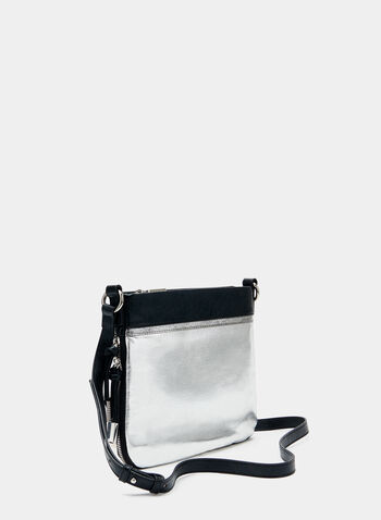 Joseph Ribkoff - Two Tone Crossbody Bag, Silver, hi-res