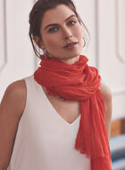 Crinkle Textured Wrap, Red