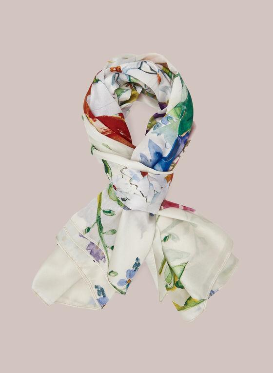 Foulard léger à imprimé aquarelle , Multi