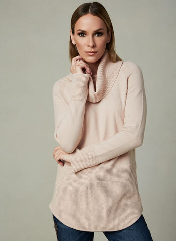 Elena Wang - Cowl Neck Sweater, Pink,