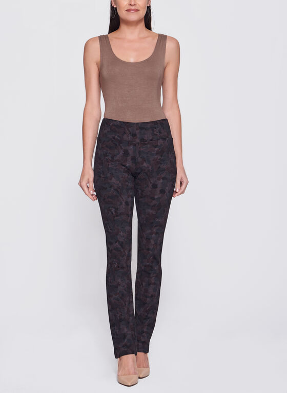 Pantalon pull-on Madison à jambe étroite, Rouge, hi-res
