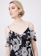 Maggy London - Floral Print Cold Shoulder Dress, Black, hi-res