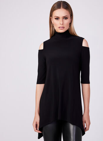 Joseph Ribkoff - Cold Shoulder Top, Black, hi-res