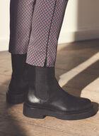 Pantalon à enfiler à motif géométrique, Noir