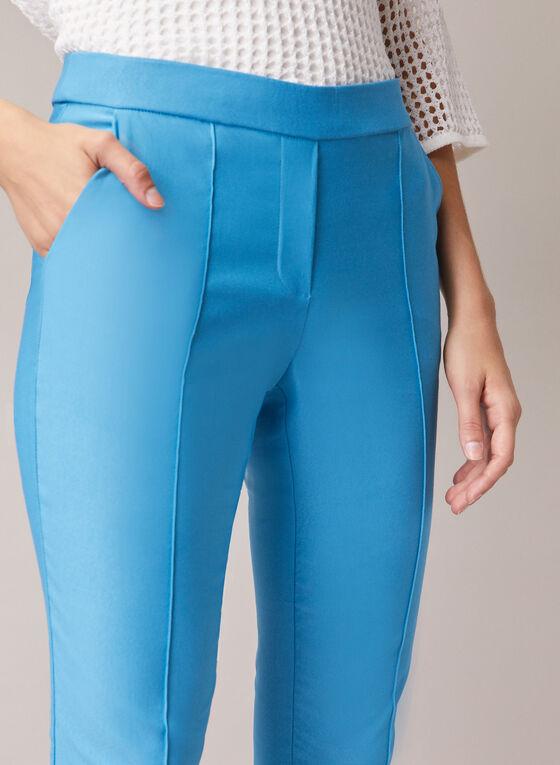 Capri pull-on détails coutures, Bleu