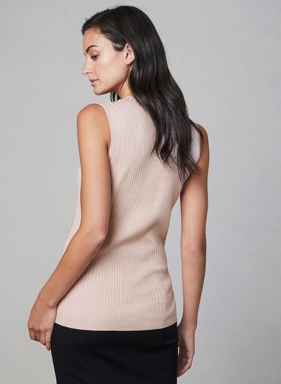 Pull sans manches en tricot, Rose