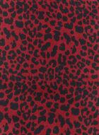 Foulard carré de soie imprimé léopard, Rouge, hi-res