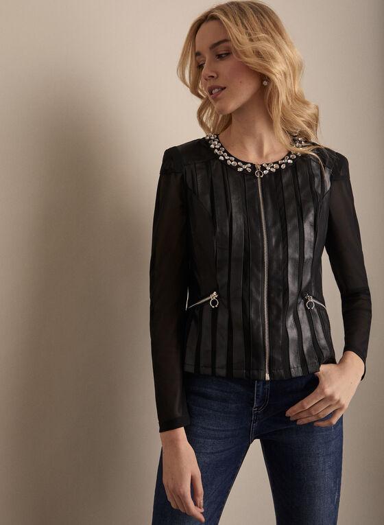 Frank Lyman - Jewel Embellished Jacket, Black