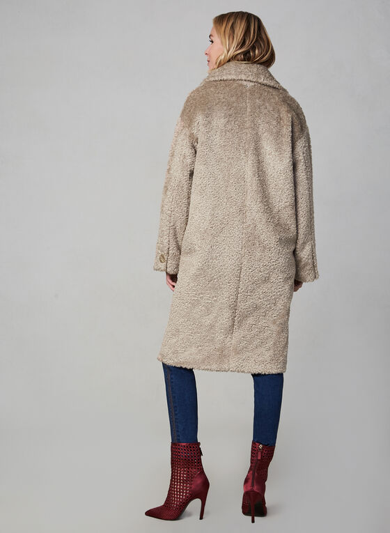 SOSKEN - Teddy Coat, Off White