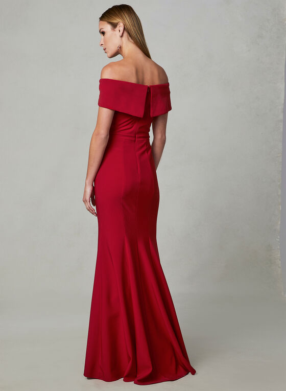 BA Nites - Off The Shoulder Dress, Red, hi-res
