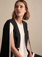 Frank Lyman - Slit Sleeve Contrast Jacket, Black