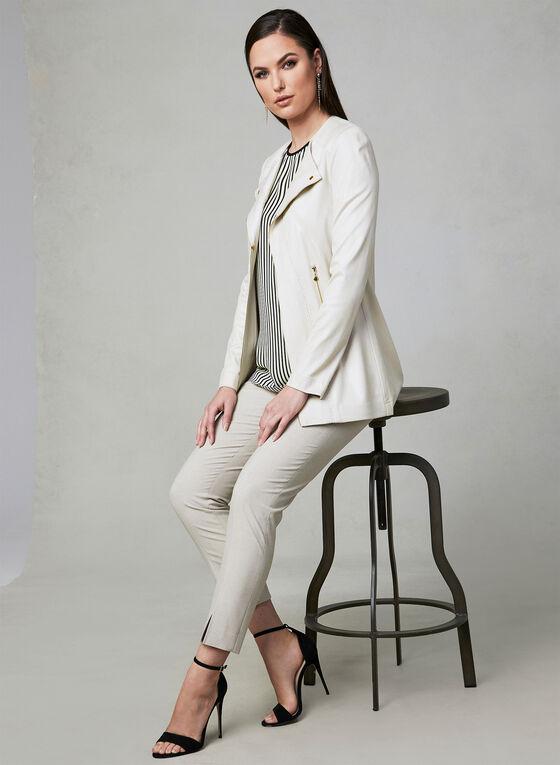Vex - Faux Suede Jacket, Off White, hi-res