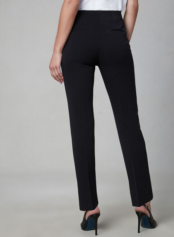 Amber Fit Slim Leg Pants, Black