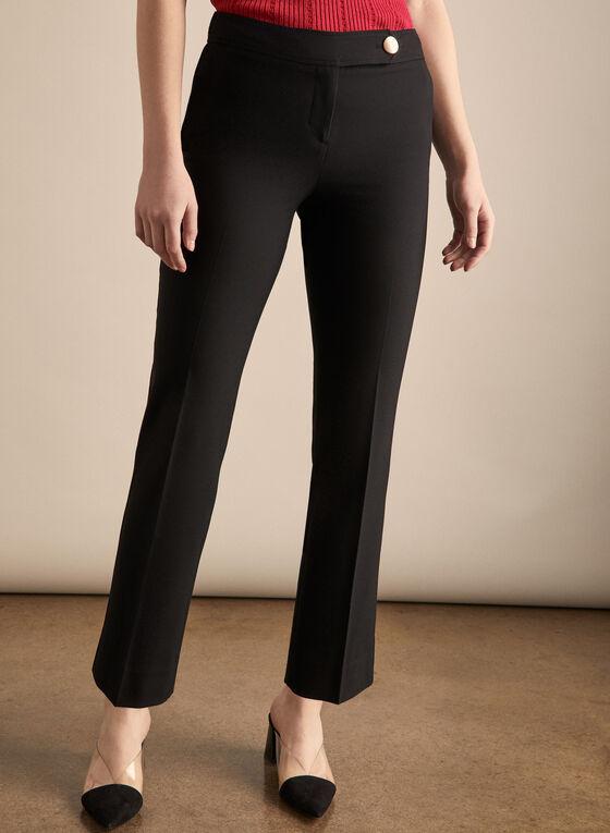 Pantalon Lauren Petite à jambe droite , Noir