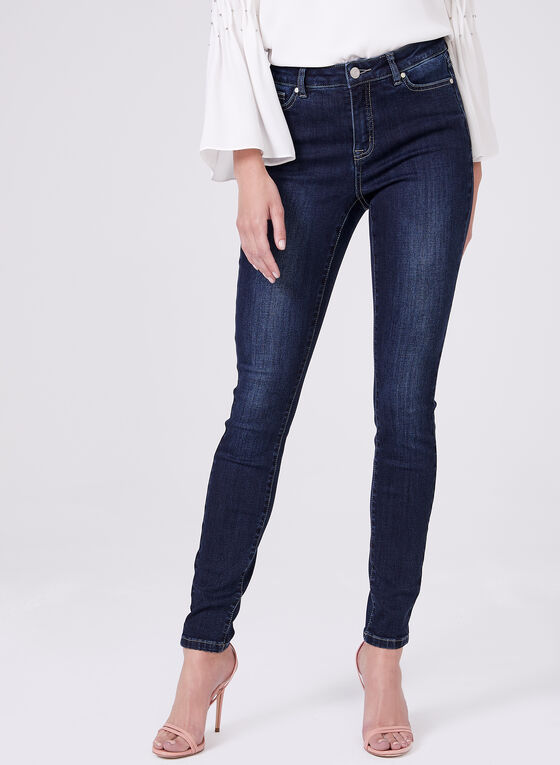 Super Soft Slim 7/8 Jeans, Blue, hi-res
