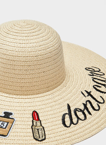 Wide Brim Whimsical Hat, Off White, hi-res