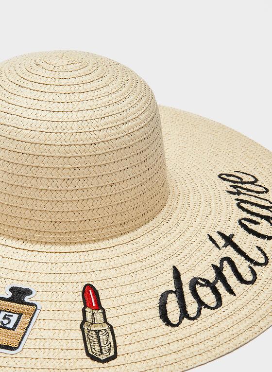 Wide Brim Whimsical Hat, Off White, hi-res