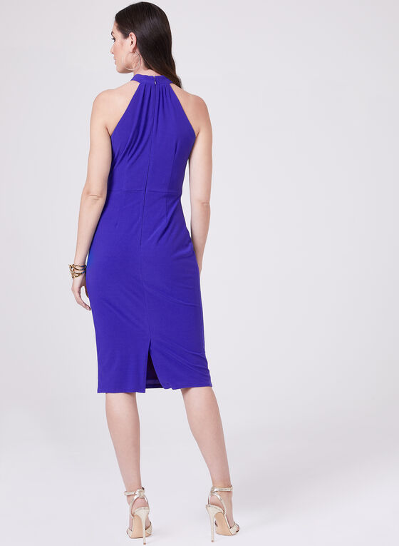 Maggy London - Halter Neck Dress, Blue, hi-res