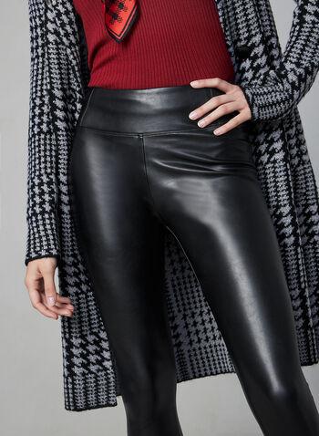 Vegan Leather Leggings, Black, hi-res,  fall winter 2019, vegan, faux leather, pull-on leggings, slim leg