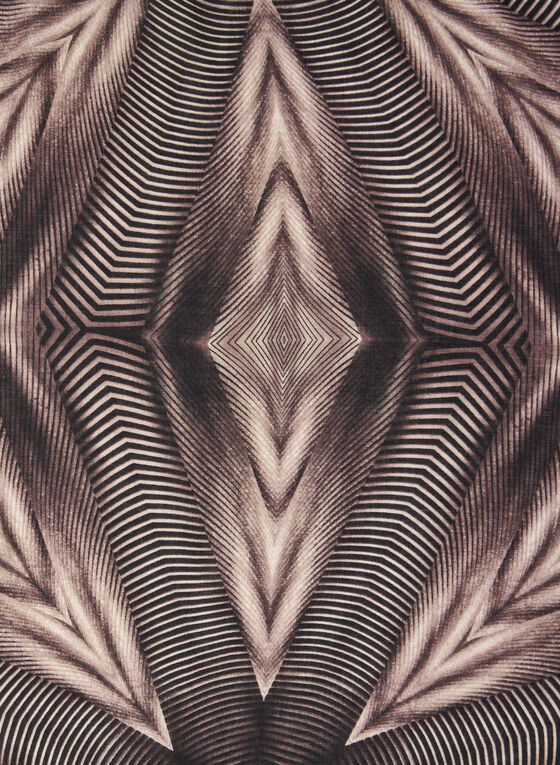 Geometric Print Scarf, Red