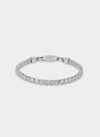 Bracelet souple à cristaux, Argent,  bracelet, cristaux, printemps 2019