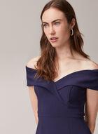 BA Nites - Off-the-Shoulder Mermaid Dress, Blue