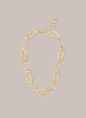 Oval Link Necklace, Gold,  jewellery, necklace, chain, link, large, golden, fall winter 2020