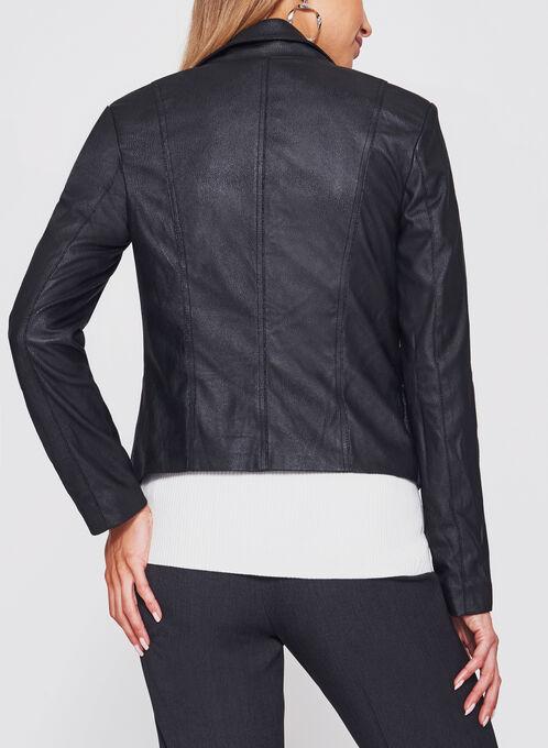 Perfecto Faux Leather Jacket, Black, hi-res