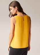 Crew Neck Sleeveless Blouse, Yellow
