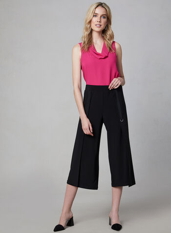 Cowl Neck Sleeveless Top, Multi, hi-res,  sleeveless, cowl neck, crepe, fall 2019, winter 2019