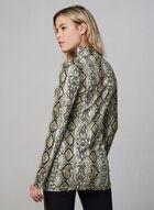 Alison Sheri - Snakeskin Print Turtleneck, Brown