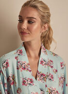 Comfort & Co. - Floral Print Robe, Blue