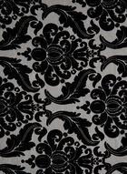 Baroque Print Velour Scarf, Black, hi-res