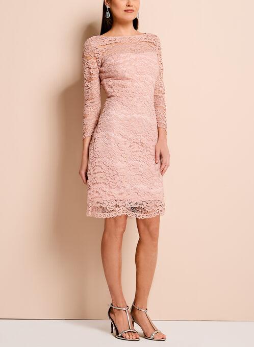 Jax Sparkle Lace Sheath Dress, Pink, hi-res