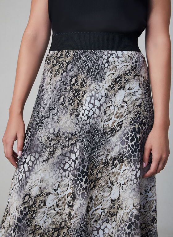 Animal Print Skirt, Black, hi-res