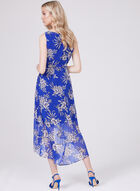 Sandra Darren - Robe fleurie en mousseline à effet volanté, Bleu, hi-res