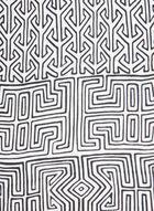 Geometric Print Silk Scarf, Black