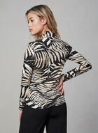 Joseph Ribkoff - Animal Print Top, Black