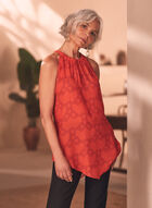 Chain Print Sleeveless Blouse, Red