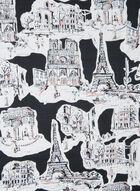 Karl Lagerfeld Paris - Paris Print Scarf, Black