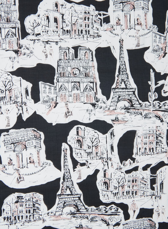 Karl Lagerfeld Paris - Foulard motif Paris, Noir