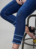 Charlie B - Jean capri avec détails effilochés, Bleu, hi-res