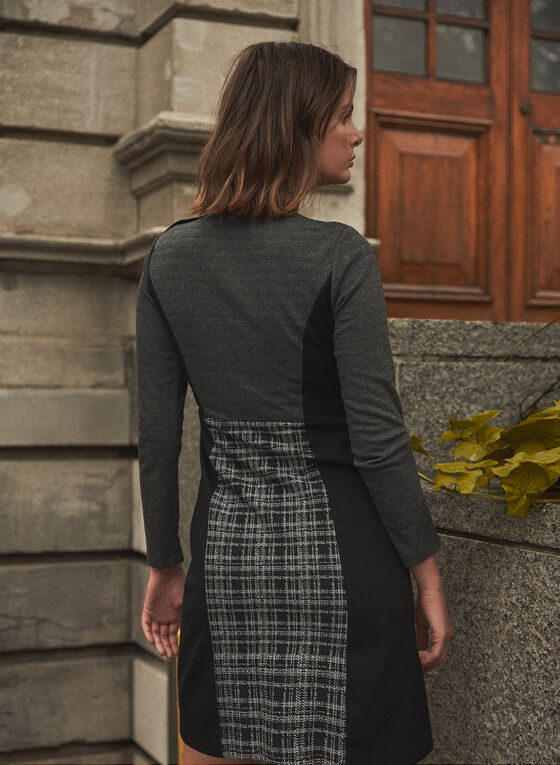 Vince Camuto - Plaid Detail Dress, Black