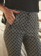 Joseph Ribkoff - Geometric Slim Leg Pants, Black