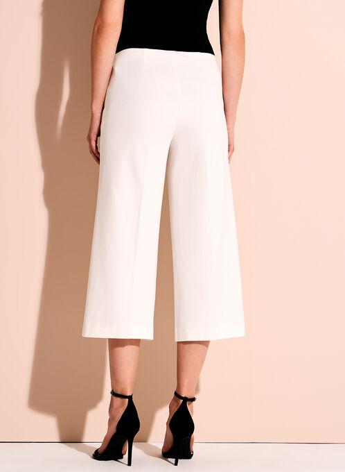 Ponte Wide Leg Pants, Off White, hi-res
