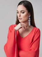 Frank Lyman - Cape Sleeve Sheath Dress, Red, hi-res